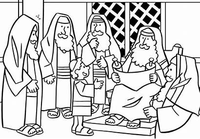 Jesus Temple Coloring Pages Bible Finding Teaching