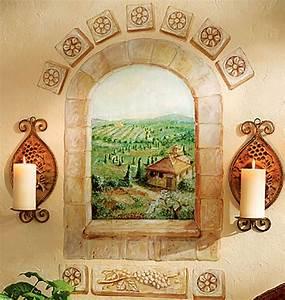 Fliesen Tapete Küche Selbstklebend : wandsticker toskana fenster selbstklebend wohnzimmer ~ Michelbontemps.com Haus und Dekorationen