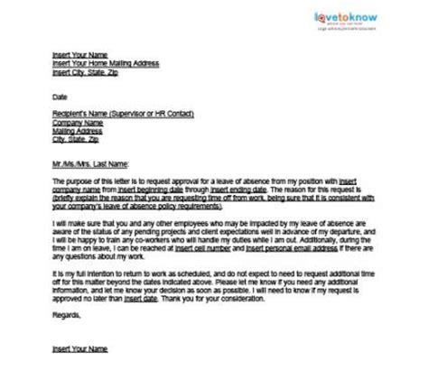 sample letter  leave application  boss south