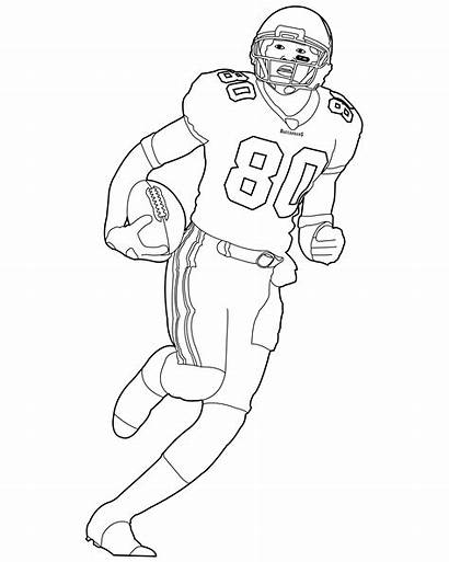 Football Coloring Player Nfl Pages Getcoloringpages