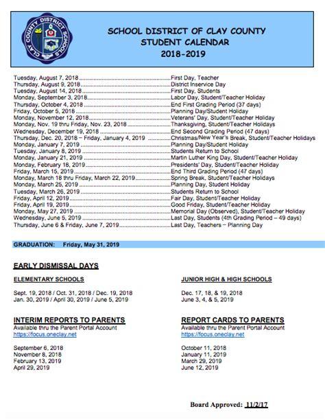 additional calendars student calendar