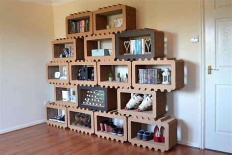 Brix Modular Cardboard Shelves