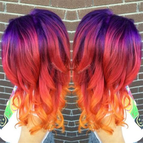 Best 25 Sunset Hair Ideas On Pinterest Ombre Hair