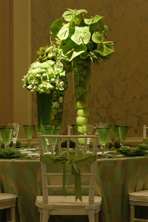 lovely green centerpiece  floramor maharani weddings