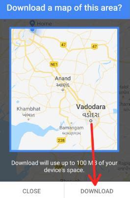 how to download offline map android device