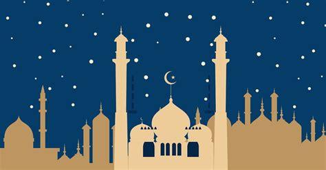 background gambar masjid kartun hd islamic nature