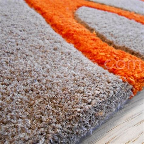 tapis salon orange chaios
