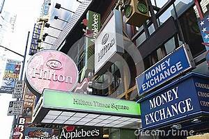 Neon Signs In Times Square Editorial Image Image