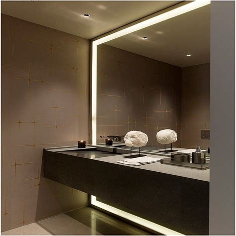 Large Bathroom Mirrors With Lights by Ultra Large Bathroom Mirror In Lighted Frame Design