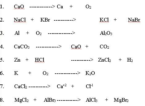 worksheet 4 single replacement reactions
