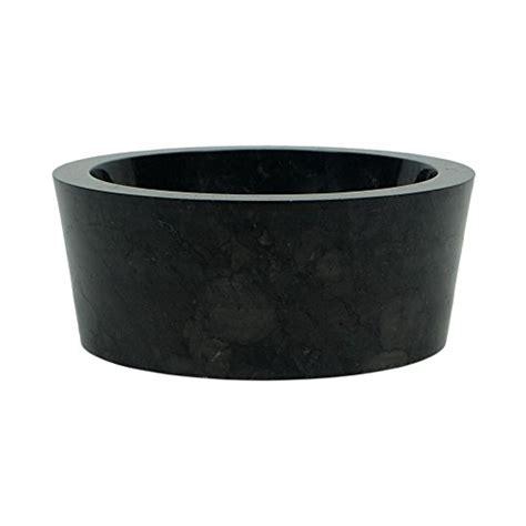 wohnfreuden marmor waschbecken 30 cm schwarz rund poliert steinwaschbecken oder