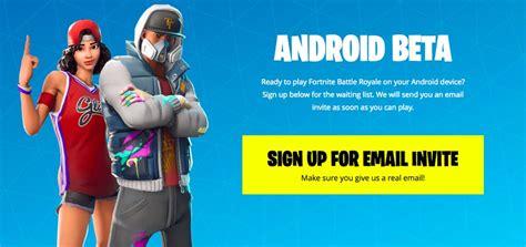 fortnite  android  anunciado versao beta tem