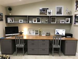 Remarkable, Built, In, Office, Ideas, Of, Desk, For, Home, Valid, Beautiful, Double, Desk