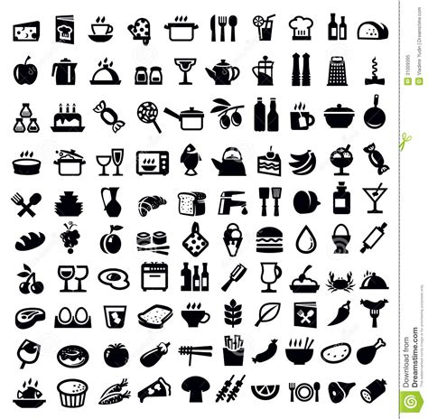 pictogramme cuisine gratuit kitchen and food icon royalty free stock photo image