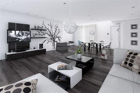 wohnzimmer wand luxus black white interiors