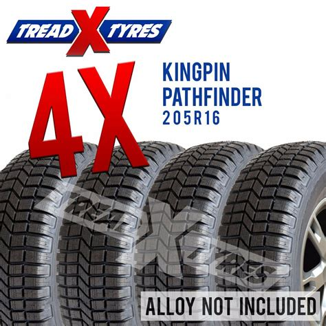 4x New 205r16 Tyre Kingpin 4x4 205 80 16 Fitting Available