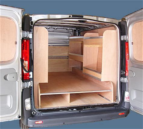 racking for vans lining and racking swiss vans