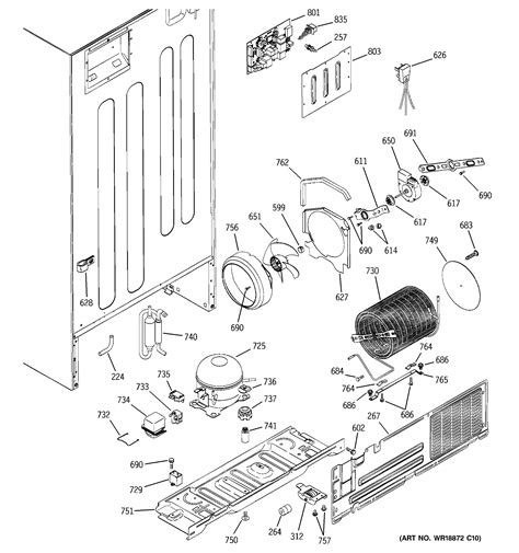 ge model ptslbmbrww top mount refrigerator genuine parts