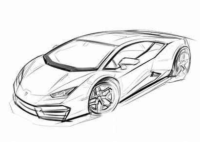 Drawing Sketch Pencil Cars Coloring Drawings Lambo