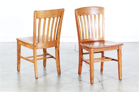 Set Of 4 Antique Oak Dining Chairs  Vintage Supply Store