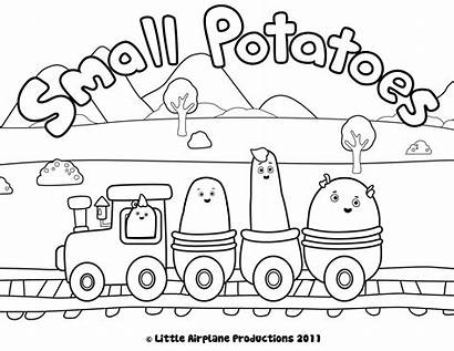 Coloring Pages Potatoes Disney Train Junior Potato