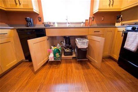 sliding trash can under sink under sink slide out trash can for the home pinterest