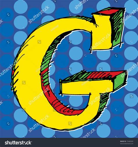 popart alphabet hand drawn letter  stock vector
