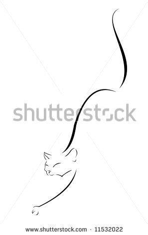 Silhouette-cat-black Stock Vectors & Vector Clip Art