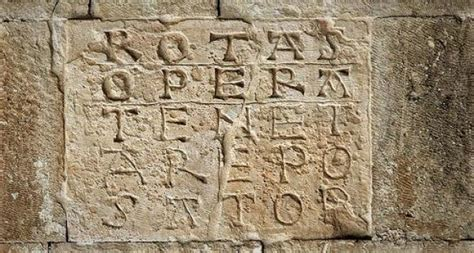 Christopher nolan's tenet has a link to the sator square, an ancient unsolved puzzle, that you might not know about. The mysterious magic square Sator, used in the film TENET