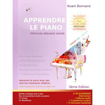 apprendre le piano methode debutant adulte couleur