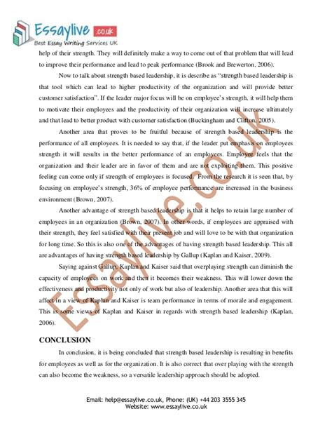 Qualities of a leader essay