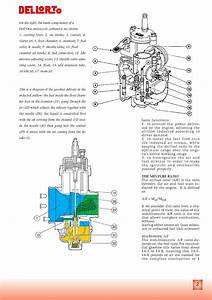 Restored Motorcycle Style  Dellorto Carburetor Manual