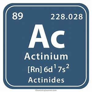 Periodic Table Parts Actinium Facts Symbol Discovery Properties Uses