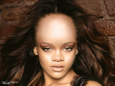 Rihanna The Fat Forehead Girl