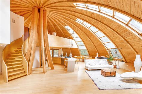 wood interior homes eco rotating dome country retreat idesignarch