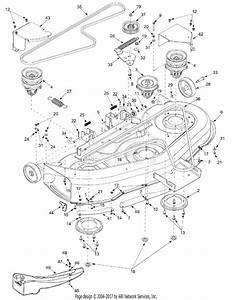 Mtd 13au604h401  2002  Parts Diagram For 46 Inch Cutting Deck