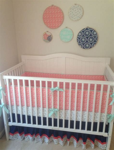 navy and coral baby bedding 883 best images about kiddo stuff i like on