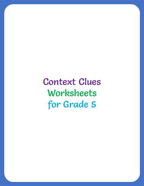 context clues worksheet  grade    home teacher