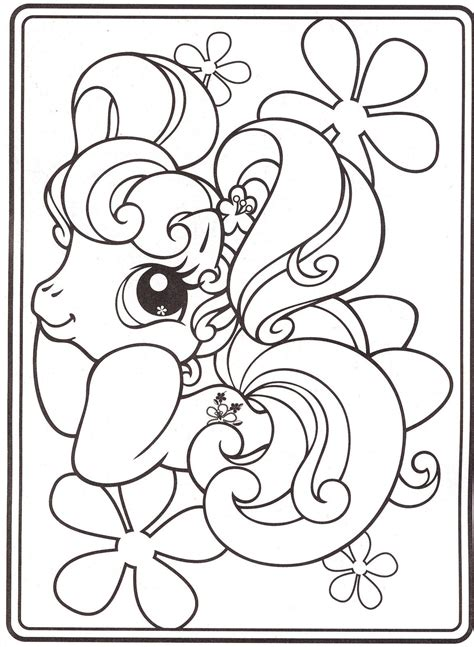My Little Pony Coloring Pages 18 Baby Pinterest Pony