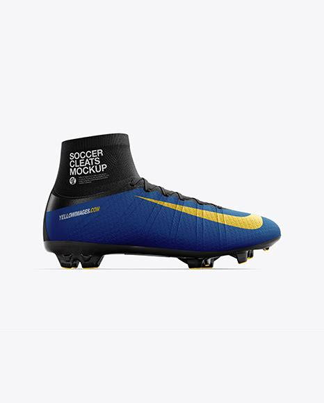 Sneaker mockup back half side view download unbelievable collection of free psd mockups for your design projects including phone mockups packages apparels flyers posters etc. Cuffed Soccer Cleat mockup (Side View) in Apparel Mockups ...