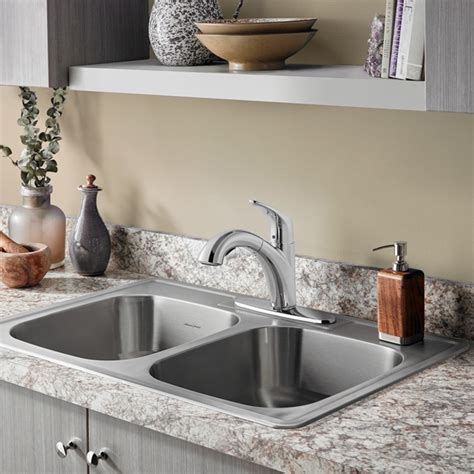 topmount kitchen sink colony top mount ada 33x22 bowl stainless steel 4 2866