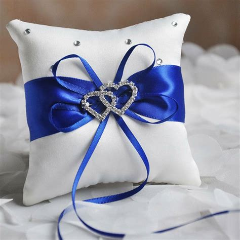 satin ring pillow rhinestone pillow cushion for wedding decor ebay