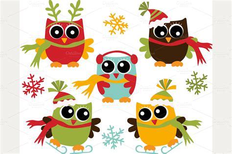 Christmas Owl Clip Art Free