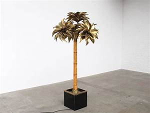 Large maison jansen palm tree floor lamp at 1stdibs for Large tree floor lamp