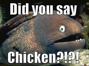 chicken?!?! eel - quickmeme