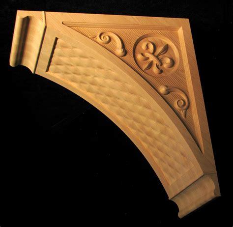 Custom Wood Corbels by Wood Carved Fleur De Lis Custom Wooden Corbel Carved