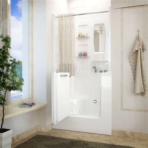 venzi 40 x 31 right drain white walk in bathtub shower