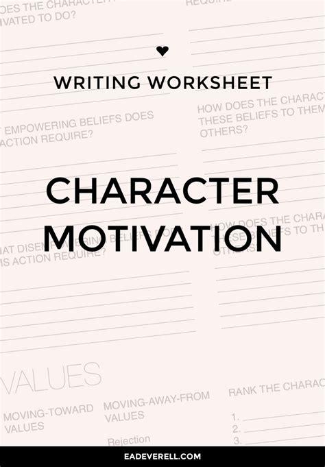 Character Motivation Worksheet