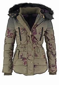 Veste D Hiver Femme 2017 : desigual nuria veste d 39 hiver caqui prix promo veste d ~ Dallasstarsshop.com Idées de Décoration