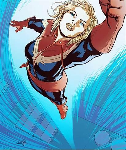 Marvel Captain Giphy Female Superheroes Woman Larson